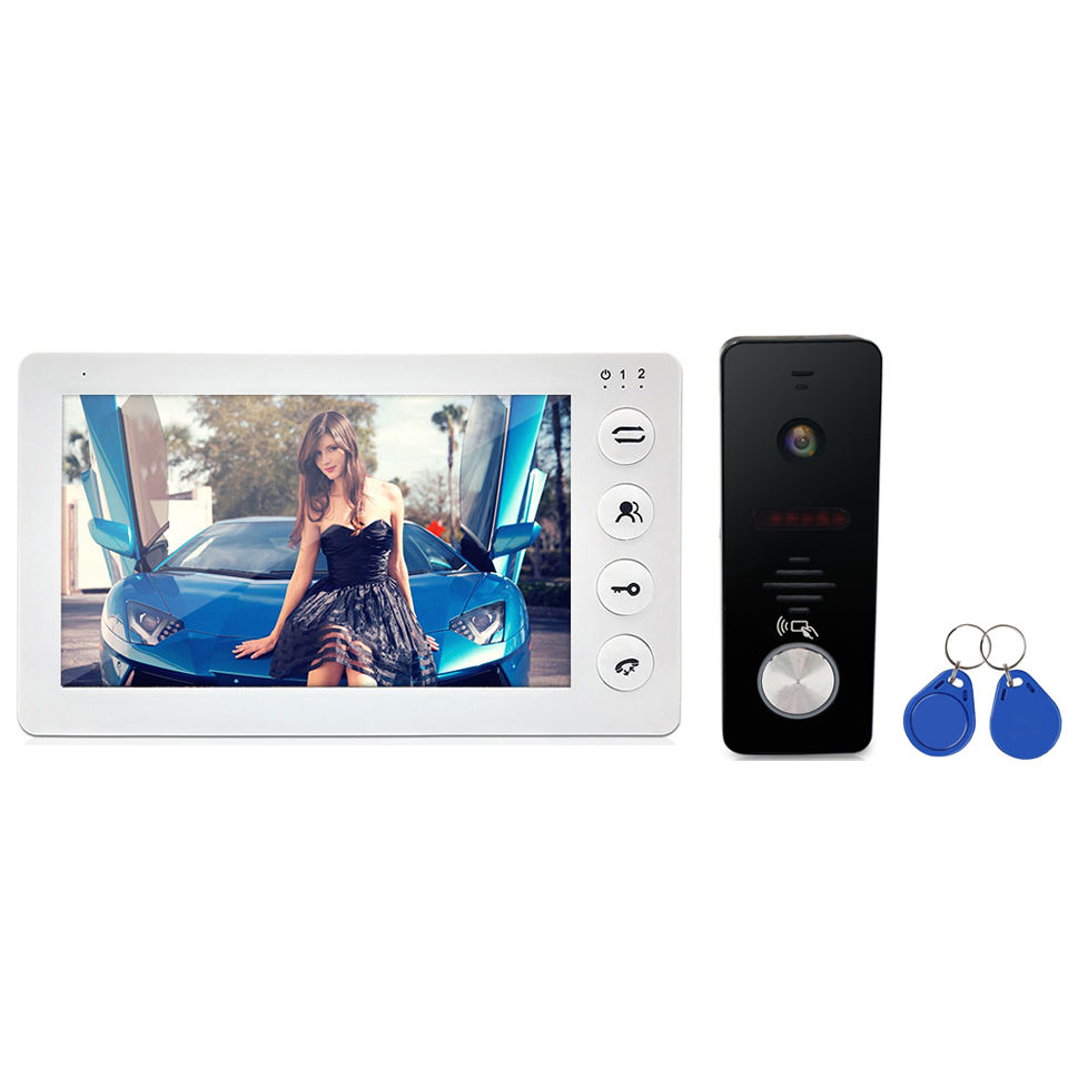 Newest interphone 4 wire high quality Home security camera intercom system 1080AHD door video phone with SD card