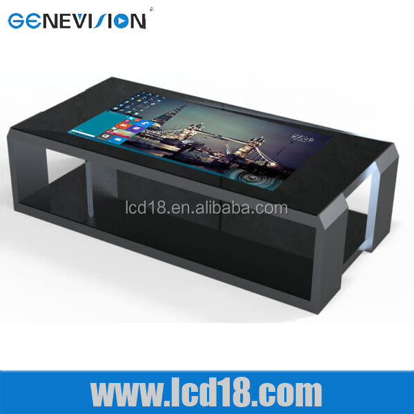 55 inch tea led panel digital coffee LED touch table touch screen led lifi technology kiosk cabinet