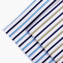 Fashion garment cloth material wholesale 100 cotton stripe shirting fabric