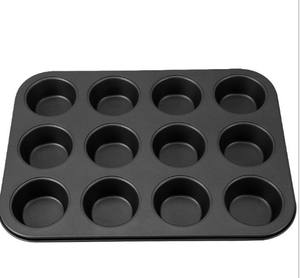 2019 Amazon Hot Koop Koolstofstaal Non-stick 12 Cups Muffin Bakken Pan