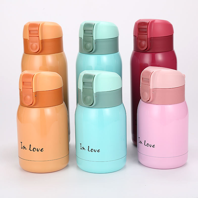 Z004 180ml 360ml Mini Vacuum Hot Mini Water Cup With luck Bounce kid children Stainless Steel bottle
