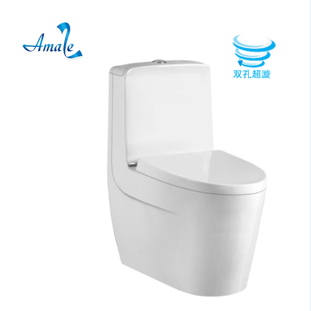Amaze #8627 thick glaze classic design with soft closing seat cover and high quality water fitting w.c colored toilet bowl