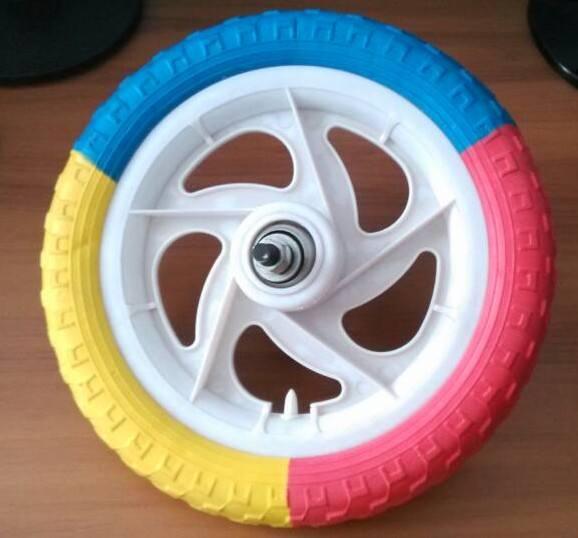 children bike parts three color foam tire for children/kids 12 bike wheel