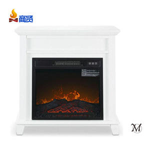 Sunshine 18'' Classical Type Three Button Home Decor with White Wooden Mantel ERP Electric Fireplace