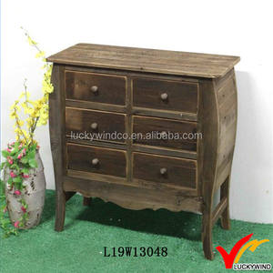 Handcraft Primitive Farmhouse Wood Small Sideboard Cabinet