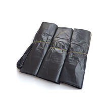 Biodegradable black plastic t-shirt garbage bag