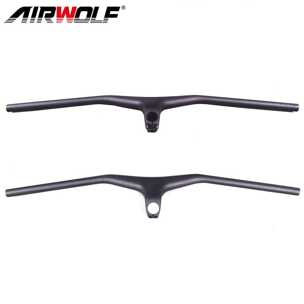 Carbon 3K matt MTB Road Bicycle riser Handlebar 58-72 Integrated Bar Stem 9-12cm