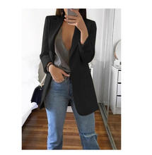Spring Fashion Jackets for Women Long Sleeve Women Tops Suit Coat Solid Spring Office OL Style Cardigans Suits 5 Colors Cappotto