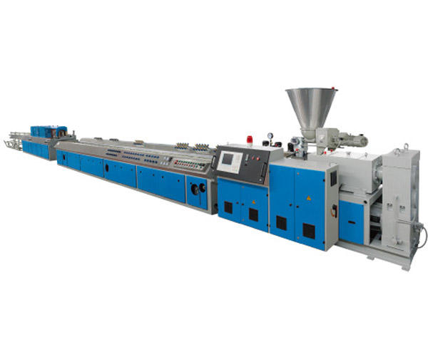 wood plastic WPC PVC baseboard extruder / production line / making machine