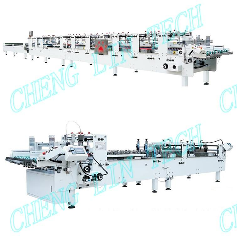PVC PET PP packaging boxes folder and gluer machine