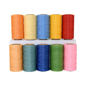 First group 200M/Roll 1mm 100% polyester 210D braided flat sewing waxed leather thread for shoes