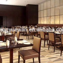 5 STAR Hotel Restaurant panel Dining Table Wooden Dining Furniture Sets