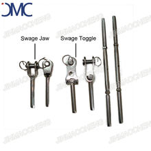 Stainless steel swage toggle swivel turnbuckle