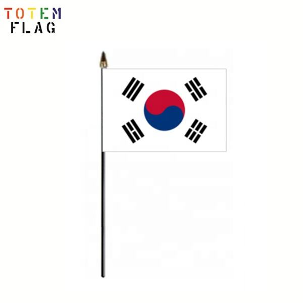 Advertising South Korean Hand Held Flag Stick Flag
