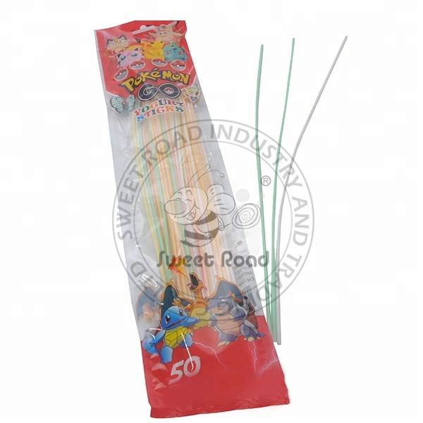 Long Stick Sour Powder Candy with Fruity Flavor