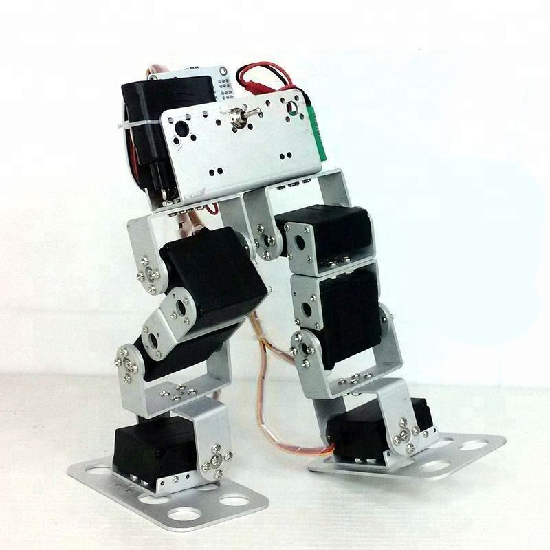 New 6-DOF Biped Walking Robot Dual-Axis Steering Digital Edition Robot DIY Racing Accessories1