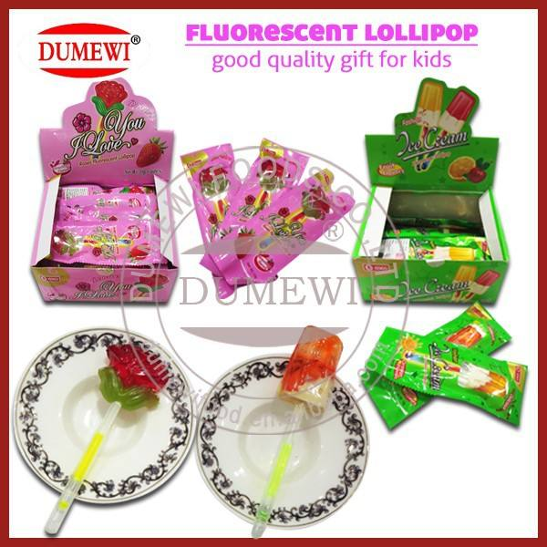 Halal Illuminazione Lolly Pop/Fluorescente Caramella del Lollipop