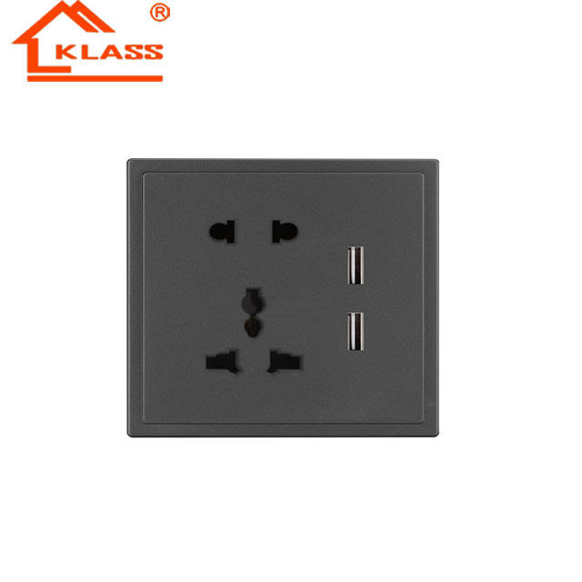 Newest UK Standard 5pin 13A Wall Socket with USB for Iraq market