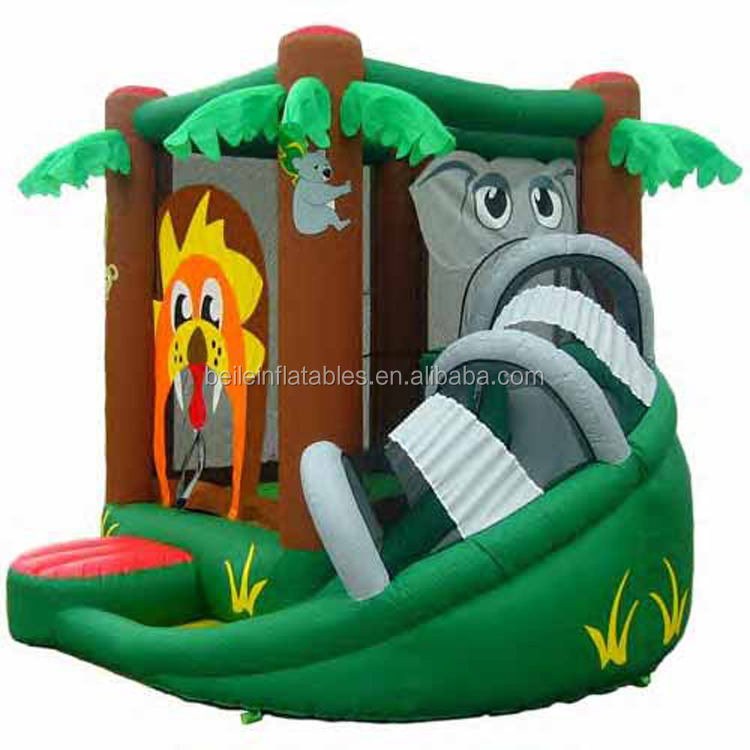 PVC Inflatable house Palm tree inflatable bouncer inflatable slides for kid