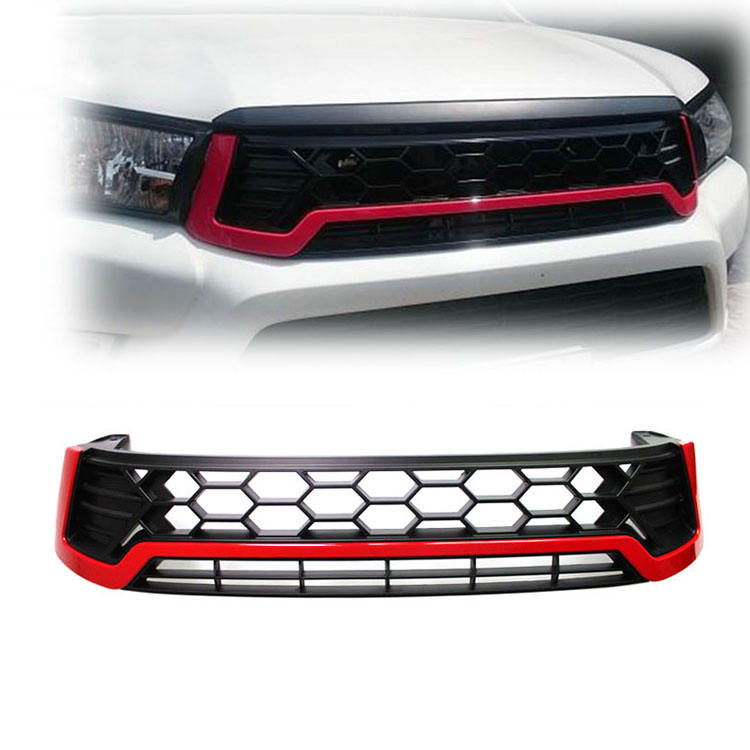 Hilux Front Grill Red For Revo SR5 2015 2016 pickup M70 M80