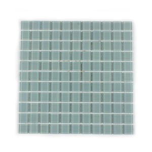 Transparent gray green color flat finish simple America style swimming pool tile ceramics glass mosaic tile