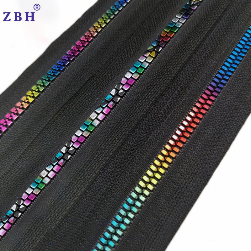 High Quality #5 Resin Zipper Roll Color Teeth Decorative Zipper For Clothes Home Textile