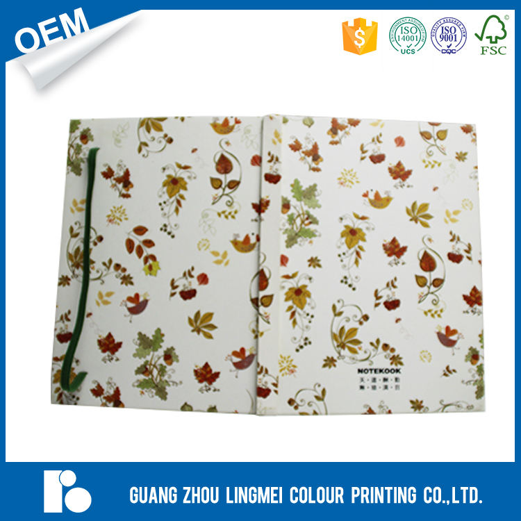 Écologique recyclé multicolore mignon note exercice livre promotionnel A4 A5 A6 carton à couverture rigide portable