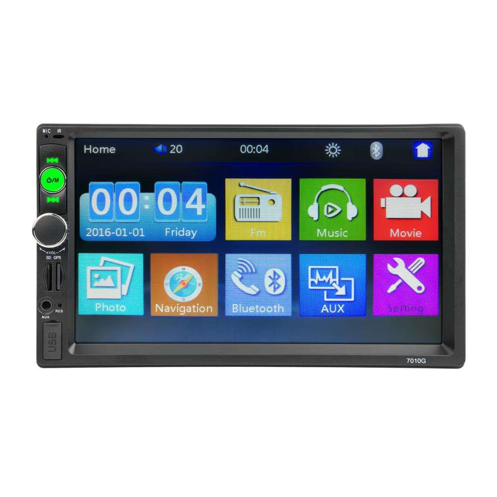 Factory Wholesale CL-7010G 2Din Car Radio With Map GPS Navigation system Support Mirrorlink FM USB AUX