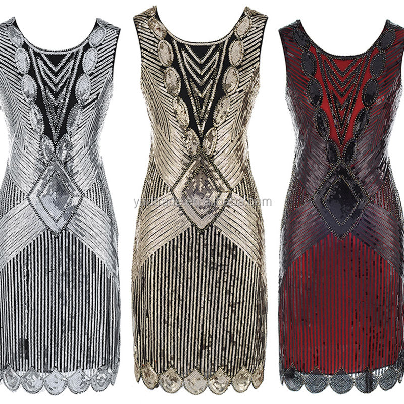 Sleeveless Patchwork 1920s 1950s GATSBY fancy dress nightwear vintage inspired dresses wholesale
