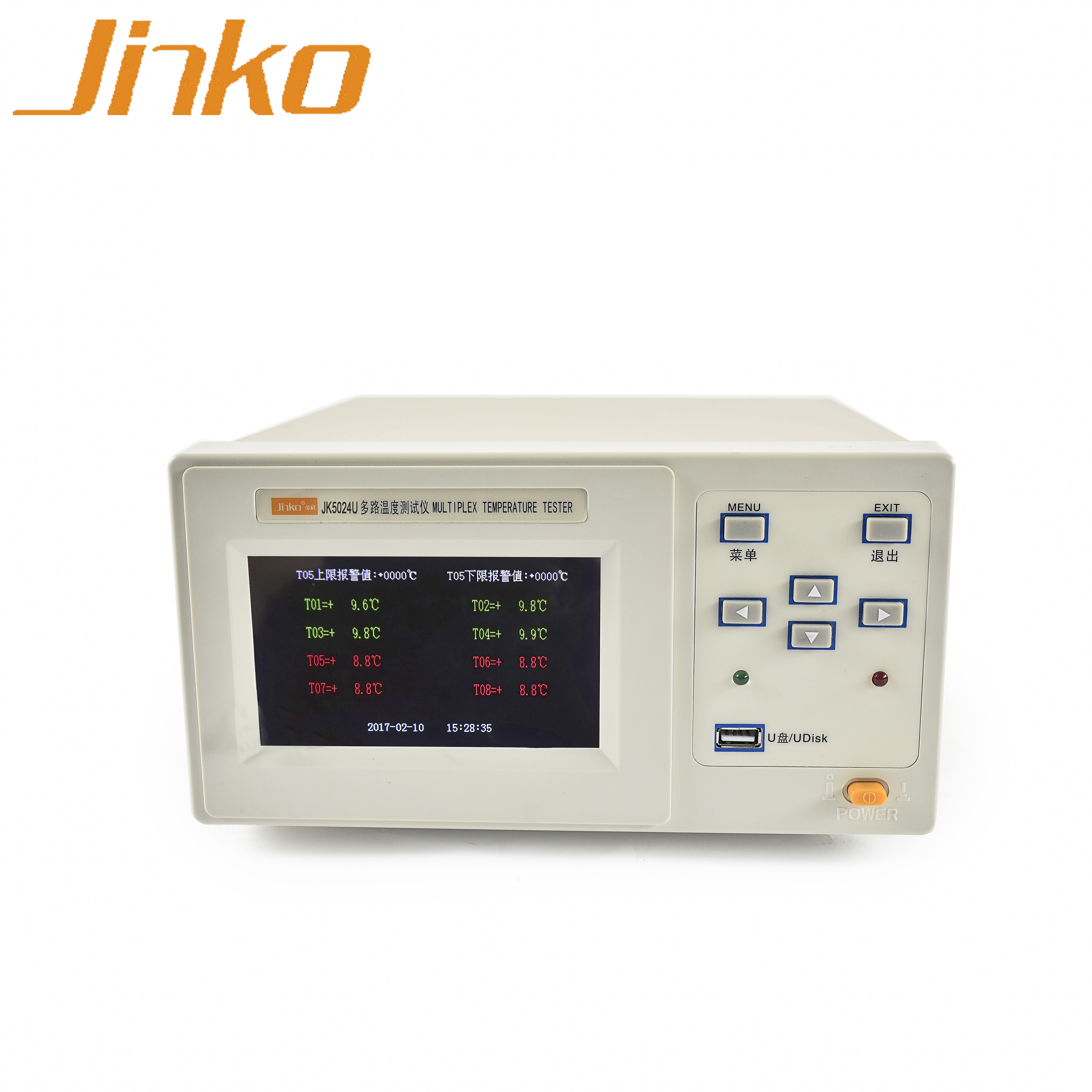High Quality Industrial Multi Channel Temperature Meter JK5024U 24 channels Temperature data logger recorder