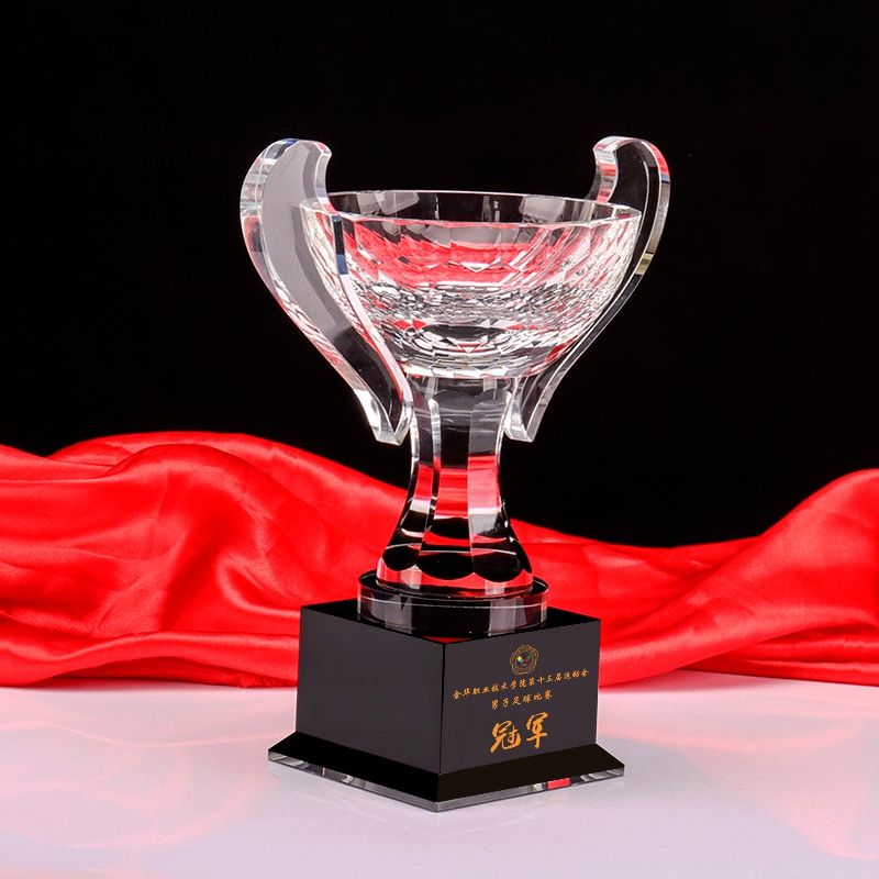Wholesale sport crystal award cup trophies and awards crystal trophy cup