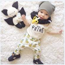 Baby Clothing 100% Organic Cotton Summer Children Wear Formal Sets