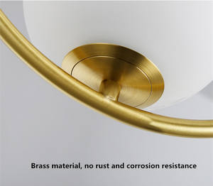ball brass pendant light
