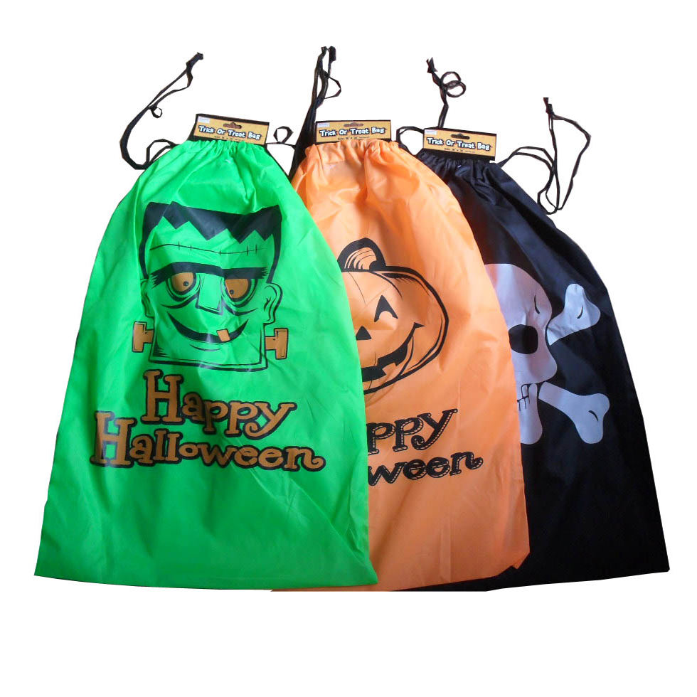 2018 Promotion 190T waterproof Nylon Polyester Halloween drawstring bag for kids