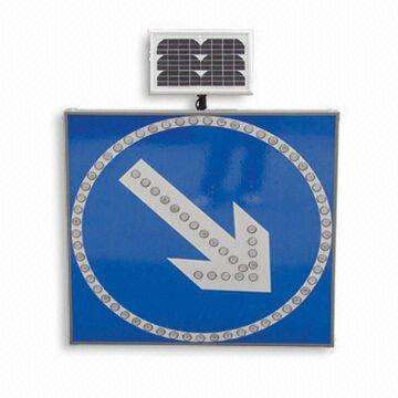 Road safety Aluminum turning traffic solar powered led flashing warning traffic sign