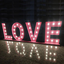 "Large letrero lighted 36"" love word wedding signs illuminated 4ft decorative alphabet luminous giant marquee letters"