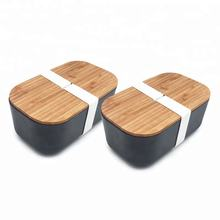 Newest custom Biodegradable Eco-Friendly Bigger Bamboo Fiber Bento Box