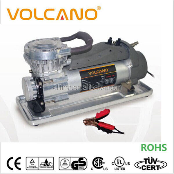 VOLCANO heavy duty 12V big tire used air compressor with carry bag