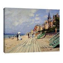 Caude monet oil painting reproduction the beach at trouville