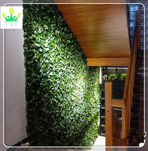 China decoración de jardín pvc arbustos césped artificial diseño de pared 008615732179065