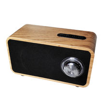 Retro Wooden Wireless Desktop Speaker with Super Bass , Subwoofer  and FM radio for Home , Outdoor Party and Beach