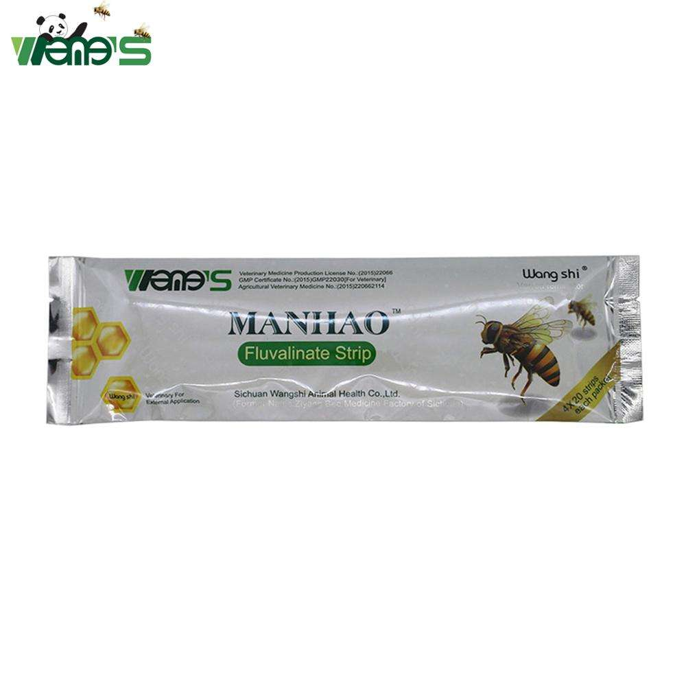 wangshi Manhao fluvalinate strips bee varron mites control pests killer medicine bee keeping manufacturer