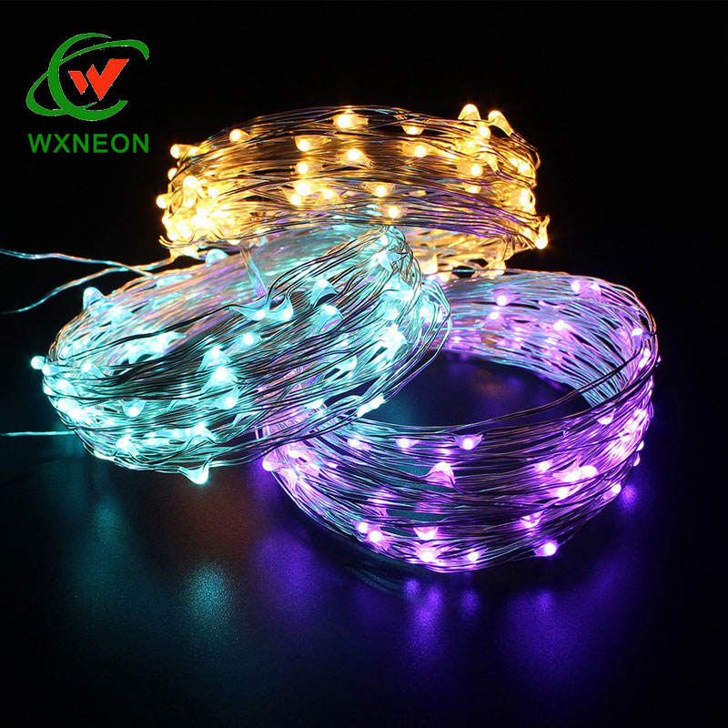 12 V 10 M 100 LED ทองแดงลวด String Fairy Light Christmas ไฟ