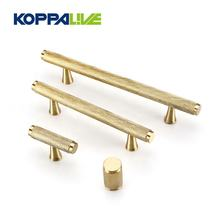 T Shape Wardrobe Cupboard Satin Solid Brass Knurled Handle Knobs Bedroom Copper Cabinet Door Pull Handles