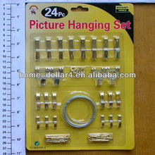 28pc Picture Hanging set/hook different parts in one pack picture hanging set