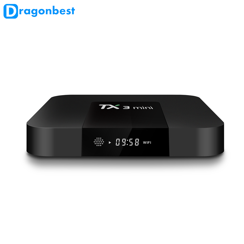 [ Amlogic S905W ] Android 7.1 TV BOX TX3 MINI 1g 16g smart tv box with KD player 17.3 Quad Core 3 in 1 av port