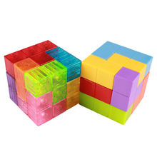 Magical Educational Building Toy Plastic 3D DIY Magnetic Cube Puzzle Blocks