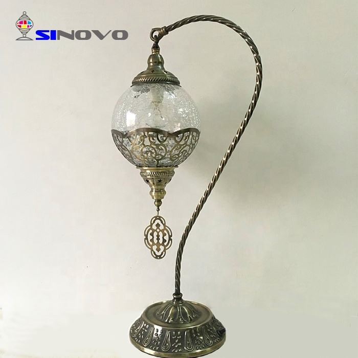 SINOVO china manufacturer creative gooseneck chandelier wedding table light with handmade mosaic lampshade