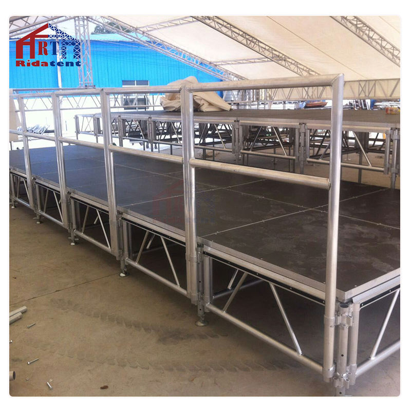 Plexiglass swimming pool concert stage with flooring for sale