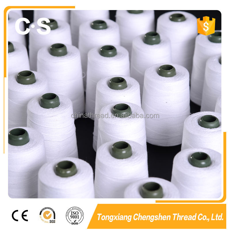 High quality 20/6 12/4 sewing thread Spun Polyester Bag Closing Thread